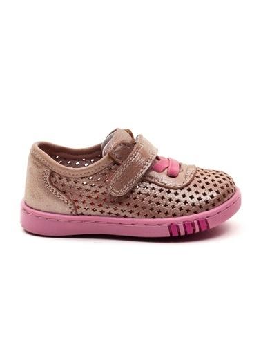 minipicco Minipicco Unısex Pembe Deri Ortopedik Destekli İlk Adım Ayakkabı Pembe